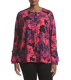 Calvin Klein Plus Size Ground Flounce Top