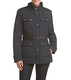 Tommy Hilfiger Short Quilted Front Pockets Coat