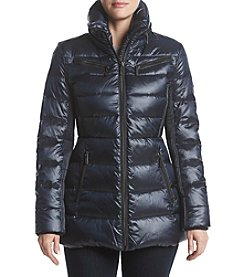 MICHAEL Michael Kors Down Standing Collar Zip Out Hood Coat