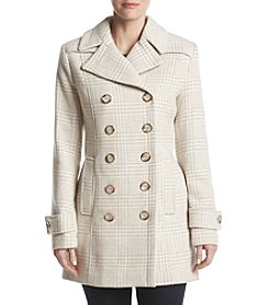 Ivanka Trump Houndstooth Plaid Pattern Peacoat