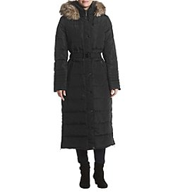 MICHAEL Michael Kors Long Down Faux Fur Hood Coat