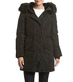 MICHAEL Michael Kors Snap Front Parka Faux Fur Trim Coat