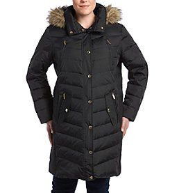 MICHAEL Michael Kors Plus Size Snap Front Coat