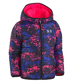 Under Armour Girls' 4-6X Range Camo Reversible Puffer Jacket
