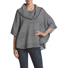 Fever Cowl Neck Poncho Sweater