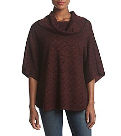 Fever Cowl Neck Poncho Sweater Top