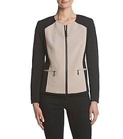 Kasper Zip Front Detail Collar Jacket