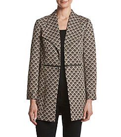 Kasper Long Jacquard Zip Jacket