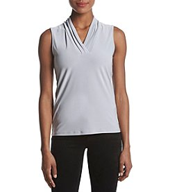 Anne Klein Triple Pleat Top