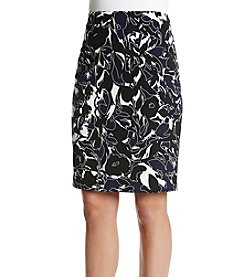 Kasper Abstract Scuba Skirt