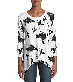 Anne Klein Embellished Floral Sweater