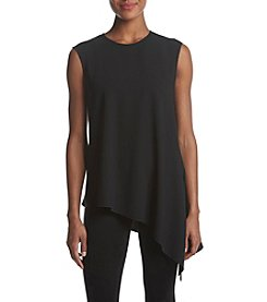 Anne Klein Asymmetrical Crepe Top
