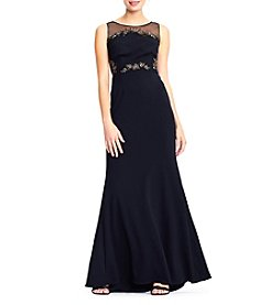 Adrianna Papell Knit Crepe Long Dress