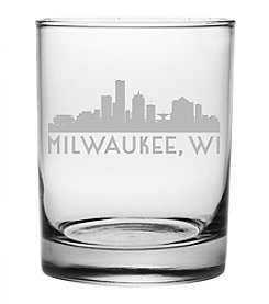 Susquehanna Glass Milwaukee Skyline Rocks Glass