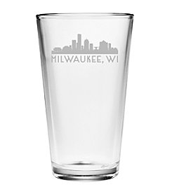 Susquehanna Glass Milwaukee, WI Skyline Pint Glass