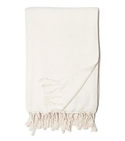 Zestt Organic Cotton Herringbone Throw