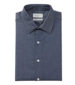 John Bartlett Statements Men's Dotted Slim Fit Dress Shirt