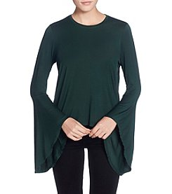Catherine Malandrino Bell Sleeve High Low Hem Top