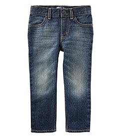 OshKosh B'Gosh Boys' 2T-14 Core Straight Fit Authentic Tinted Wash Jeans