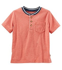 OshKosh B'Gosh Boys' 2T-5T Short Sleeve Henley Tee