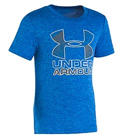 Under Armour Boys' 4-7 Big Logo Hybrid Short Sleeve Tee