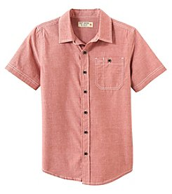 Ruff Hewn Boys' 8-20 Short Sleeve Button Up Shirt