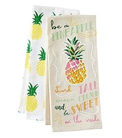 Chef's Quarters 2-Pack Be A Pineapple Kitchen Towel