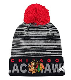 Adidas NHL® Chicago Blackhawks Men's On Ice Cuffed Pom Knit Hat