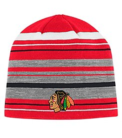Adidas NHL® Chicago Blackhawks Men's Jacquard Striped Knit Beanie