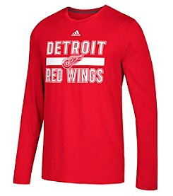 Adidas NHL® Detroit Red Wings Men's Long Sleeve Performance Tee