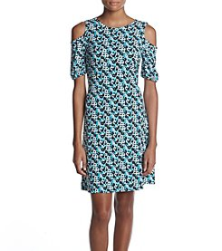 MICHAEL Michael Kors Floral Pattern Cold Shoulder Dress
