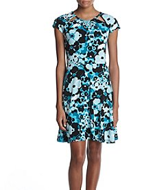 MICHAEL Michael Kors Floral Pattern Fit And Flare Dress