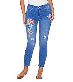 Rafaella Embroidered Skinny Jeans