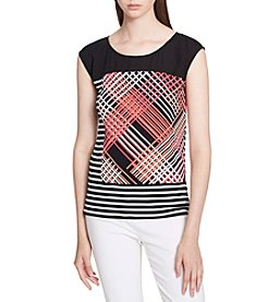 Calvin Klein Printed Stripe Top