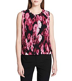 Calvin Klein Petites' Floral Print Pleated Top