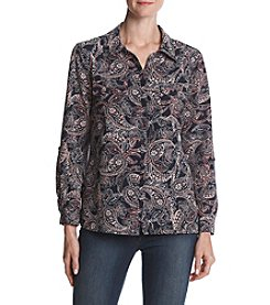 Studio Works Paisley Print Button Down Top