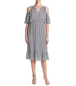 MICHAEL Michael Kors Cold Shoulder Printed Dress