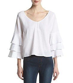 Hippie Laundry Tiered Bell Sleeve Top