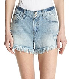 Hippie Laundry Distressed Detail Frayed Hem Shorts