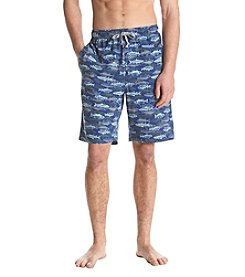 John Bartlett Statements Men's Fish Print Sleep Shorts