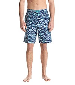 John Bartlett Consensus Men's Diamond Printed Swim Shorts