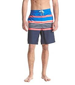 John Bartlett Consensus Men's Stripe Printed Swim Shorts