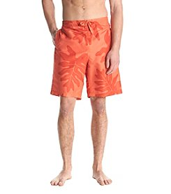 John Bartlett Consensus Men's Leaf Printed Swim Shorts
