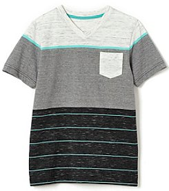 Ruff Hewn Boys' 8-20 Short Sleeve Striped Shirt with Pocket