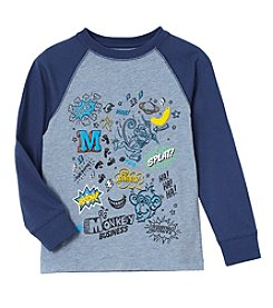 Mix & Match Boys' 2T-7 Long Sleeve Graphic Tee