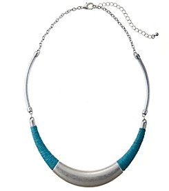 Studio Works Aqua Wrap Crescent Collar Necklace