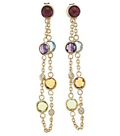 Effy 14K Yellow Gold Mixed Semiprecious Stone Earrings