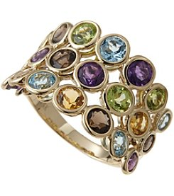 Effy 14K Yellow Gold Mixed Semiprecious Stone Ring