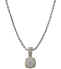 Effy Sterling Silver And 18K Gold 0.21 Ct. T.W. Diamond Pendant Necklace