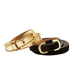 Fashion Focus Skinny Metallic Belt Set